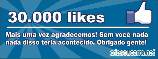 Crie seu Carro - 30.000 likes
