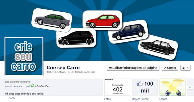 100 mil likes | Crie seu Carro
