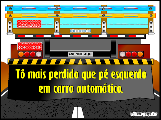 Frase de Parachoque | Crie seu Carro