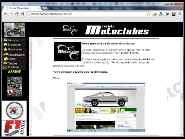 Revista Motoclubes | Crie seu Carro