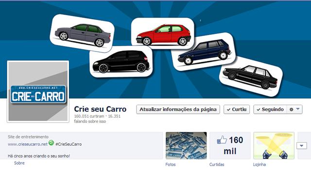 160 mil likes | Crie seu Carro